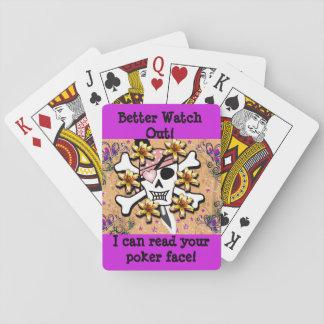 Baraja De Cartas Puedo leer sus tarjetas de cara de póker