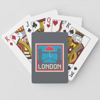 Baraja De Cartas Puente de Londres con el paraguas