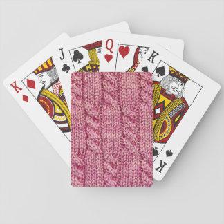 Baraja De Cartas Punto telegrafiado hilado rosado