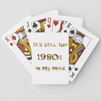 Baraja De Cartas purpurina del oro de la nostalgia de los años 80