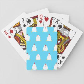 Baraja De Cartas Ratón azul de los pollos que juega al juego