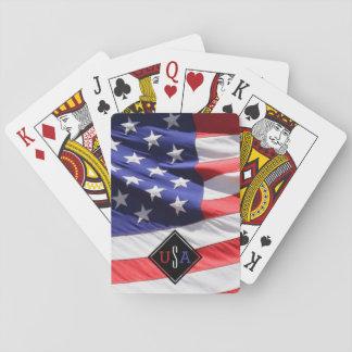 Baraja De Cartas Regalo de la bandera de los E.E.U.U. para el