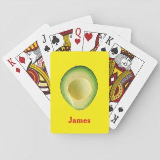 Baraja De Cartas Rojo amarillo 4James (nombre) del aguacate