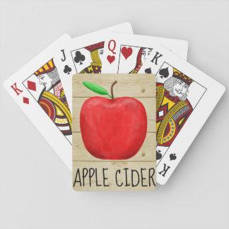 Baraja De Cartas Rojo Apple de la sidra de Apple