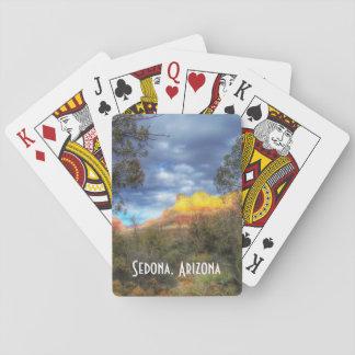 Baraja De Cartas Sedona, AZ que juega o tarjetas del póker,