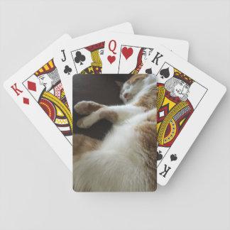 Baraja De Cartas Siestas del gato en el sofá