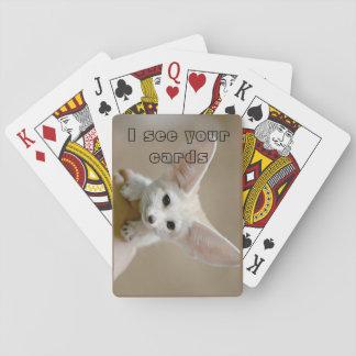 Baraja De Cartas Sistema de tarjeta del Fox de Fennec
