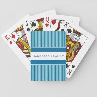 Baraja De Cartas Sombras frescas de w/Personalization azul
