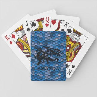 Baraja De Cartas Tarjetas afortunadas personalizadas del dragón de