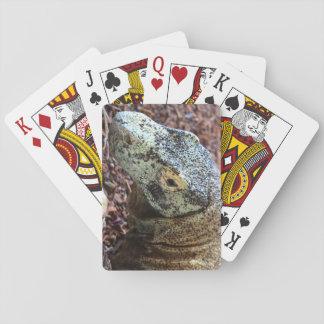 Baraja De Cartas Tarjetas del dragón de Komodo