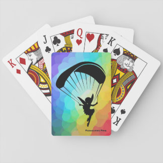Baraja De Cartas Tarjetas del duendecillo del Paragliding del arco