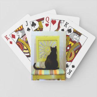 Baraja De Cartas Tarjetas del gato negro