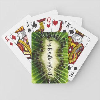 Baraja De Cartas Tarjetas del kiwi
