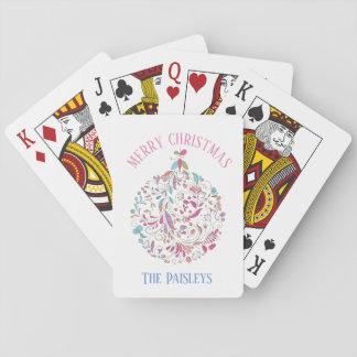 Baraja De Cartas Tarjetas florales de /Playing del ornamento del