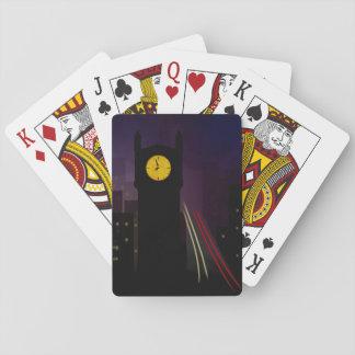 Baraja De Cartas Tarjetas oscuras del jugador de la torre de reloj