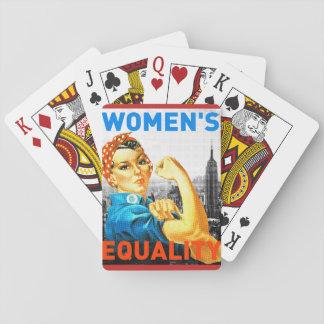 Baraja De Cartas Tarjetas para mujer de la igualdad