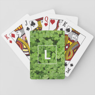 Baraja De Cartas Tarjetas que juegan iniciales del trébol