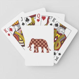 Baraja De Cartas Tela escocesa del elefante