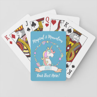 Baraja De Cartas Tía maravillosa mágica - princesa del unicornio