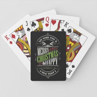 Baraja De Cartas Tipografía del navidad/Felices Navidad/día de