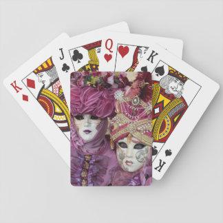 Baraja De Cartas Traje púrpura del carnaval, Venecia