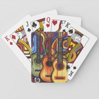 Baraja De Cartas Tres guitarras