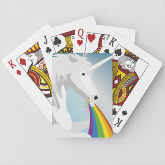Baraja De Cartas Unicornios puking del ejemplo