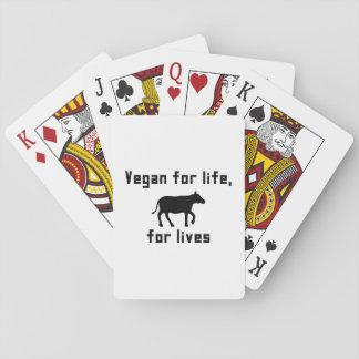 Baraja De Cartas Vegano para la vida