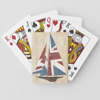 Baraja De Cartas Velero británico de la bandera