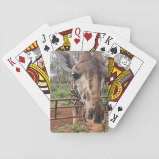 Baraja de la jirafa baraja de cartas
