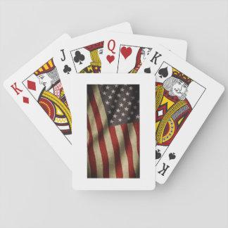 Baraja de poker con bandera americana barajas de cartas