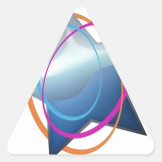 Baraja Pegatina Triangular