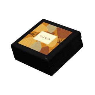 Baratija personal dispersada moderna del otoño de  caja de joyas