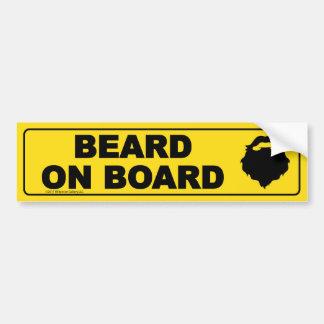 Barba a bordo pegatina para el parachoques pegatina para coche