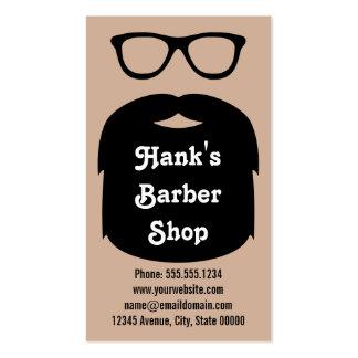 Barba y vidrios tarjeta de visita