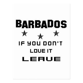 Barbados si usted no lo ama, se van postal