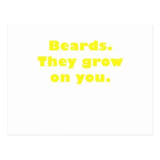 Barbas que crecen en usted postal