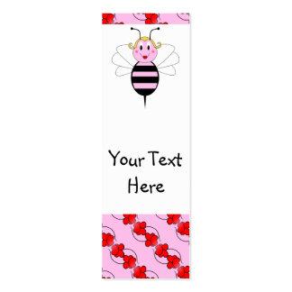 BarBee manosea la señal de la abeja Plantillas De Tarjetas De Visita