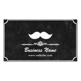 Barbería oscura tarjetas de negocios