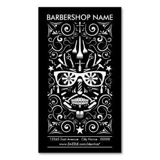 barbershop dia de los muertos tarjeta de visita magnética