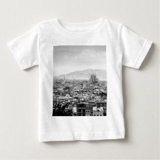 Barcelona blanco y negro camiseta de bebé