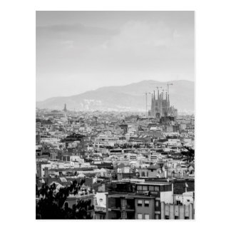 Barcelona blanco y negro postal