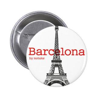 Barcelona-Eiffel by mstake Chapa Redonda 5 Cm