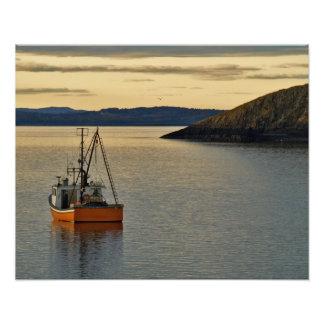 Barco anaranjado de la langosta, impresión de la f impresiones fotográficas