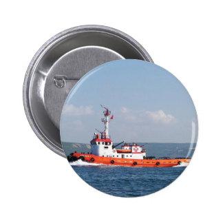 Barco anaranjado del tirón chapa redonda de 5 cm