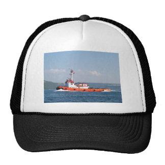 Barco anaranjado del tirón gorros