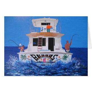 Barco de Bubbas Tarjeta De Felicitación