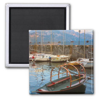 Barco de Como del lago del estilo tradicional Imán Cuadrado