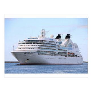 Barco de cruceros 12 postal