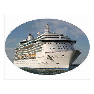 Barco de cruceros 3 (óvalo) postal
